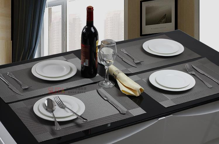 Pvc textilene placemats silver dining table mat heat