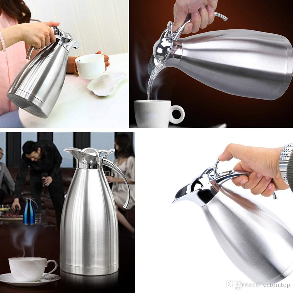 how to clean a stainless steel coffee carafe