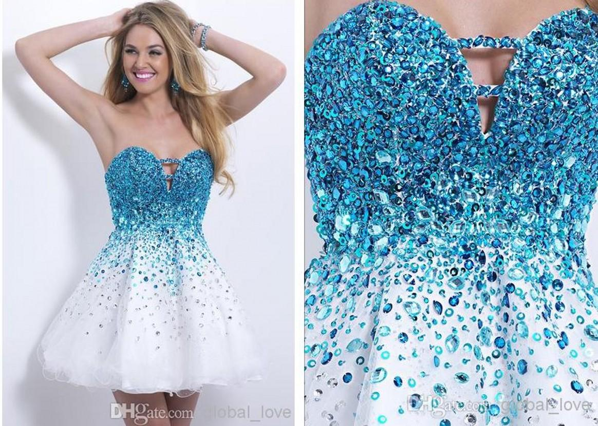 Unique Blue Party Dresses   Dress images