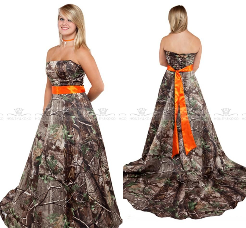 Modern Sexy New Arrival 2016 Camo A Line Wedding Dresses Plus Size ...
