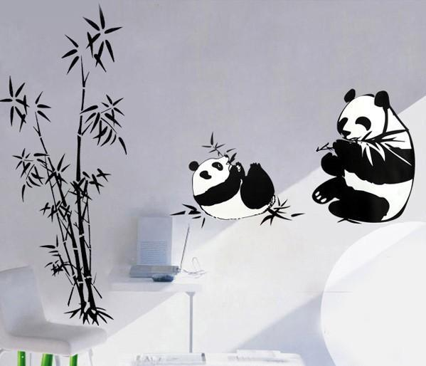 High Quality Panda Wall Decals Cartoon Roaming In Bamboo Home Decor  Stickersu0026 Panda Removable PVC Stickers Art Wall Decor Free Shopping Panda Wall  Decals ... Part 54