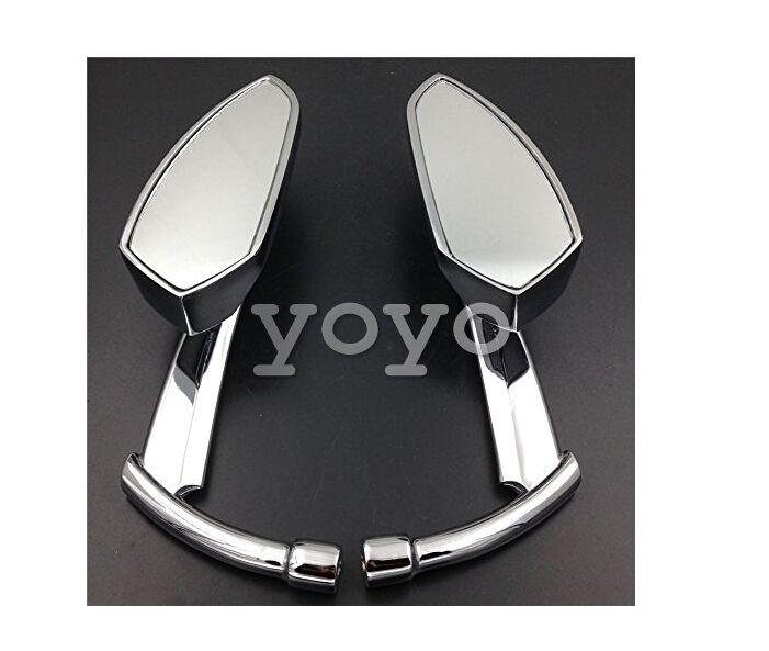 Moteur de moto Chromed Spear Blade Miroirs Fit Sportster Dyna Softail