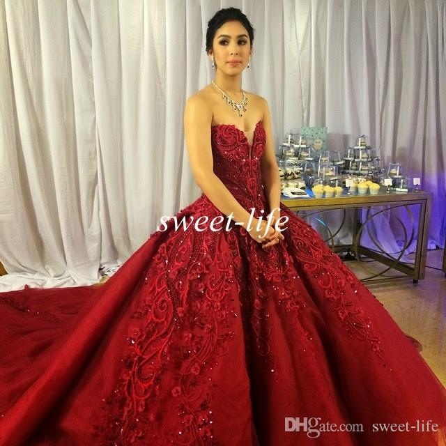 Discount Michael Cinco Luxury Wedding Dresses Ball Gown