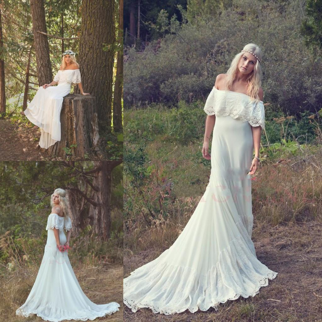 Discount closewholesale 2014 Bohemian Wedding Dresses