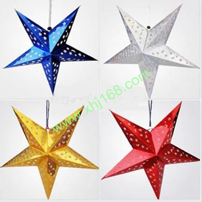 3d paper star lantern lampshade hollow ornaments pub for 3d star christmas decoration