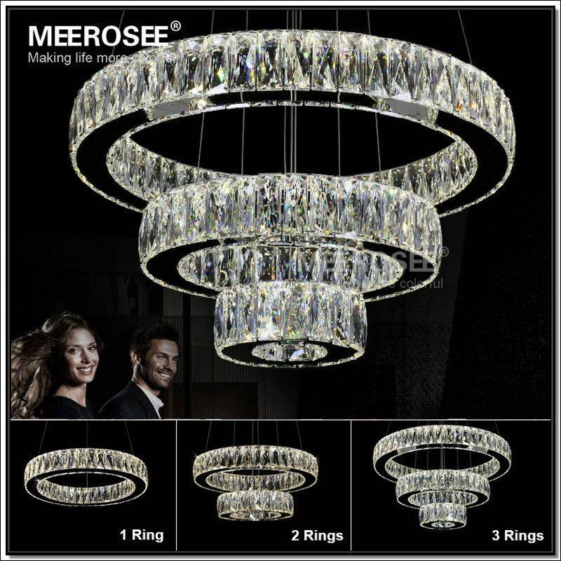 hot sale led k9 crystal ring pendant light chandelier lamp lustres de cristal suspension modern. Black Bedroom Furniture Sets. Home Design Ideas