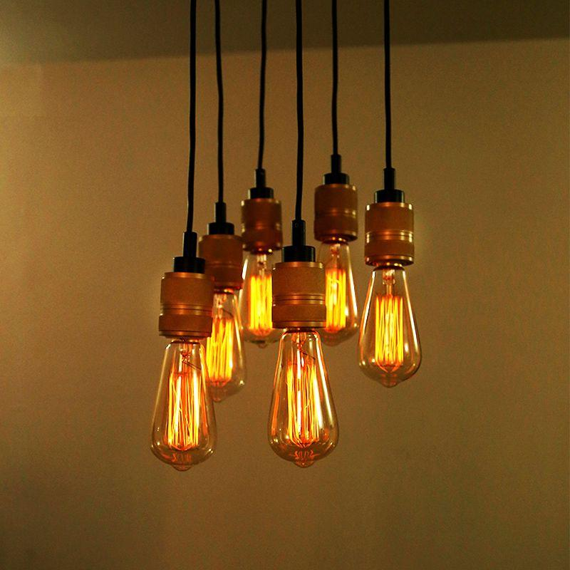 Edison Bulb Pendant Beautiful Pulley Chandelier With