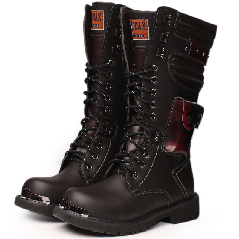Discount Mens High Boots High Quality Durable Outdoor Army Leather ...