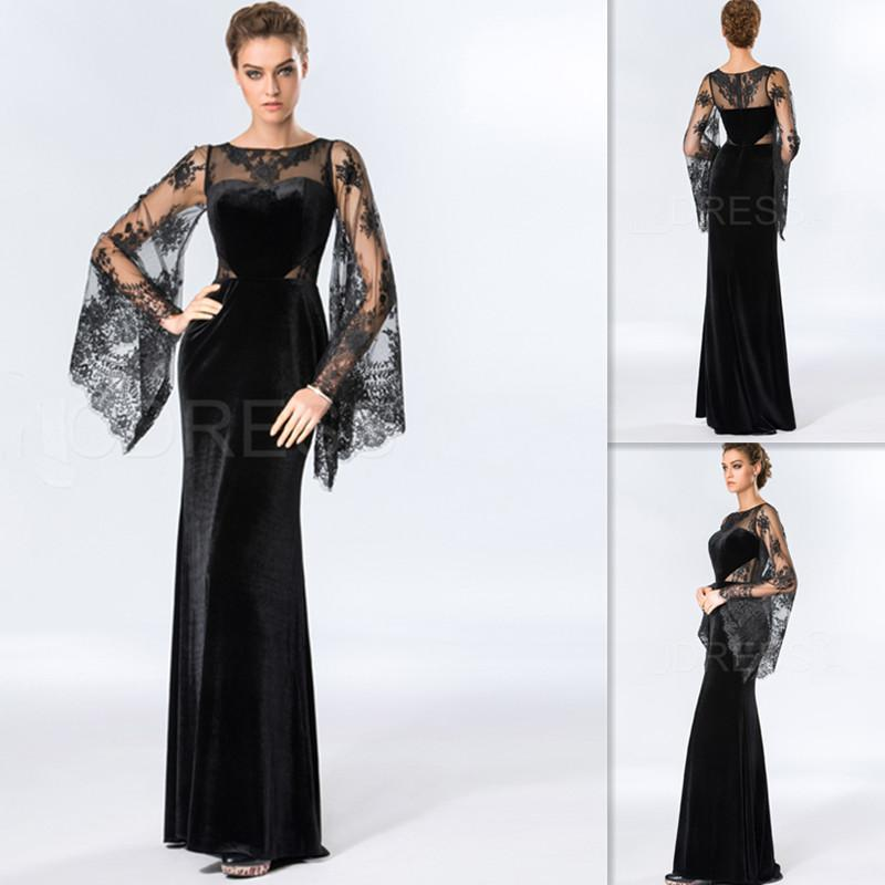 Dubai Evening Gown with Sleeves_Evening Dresses_dressesss