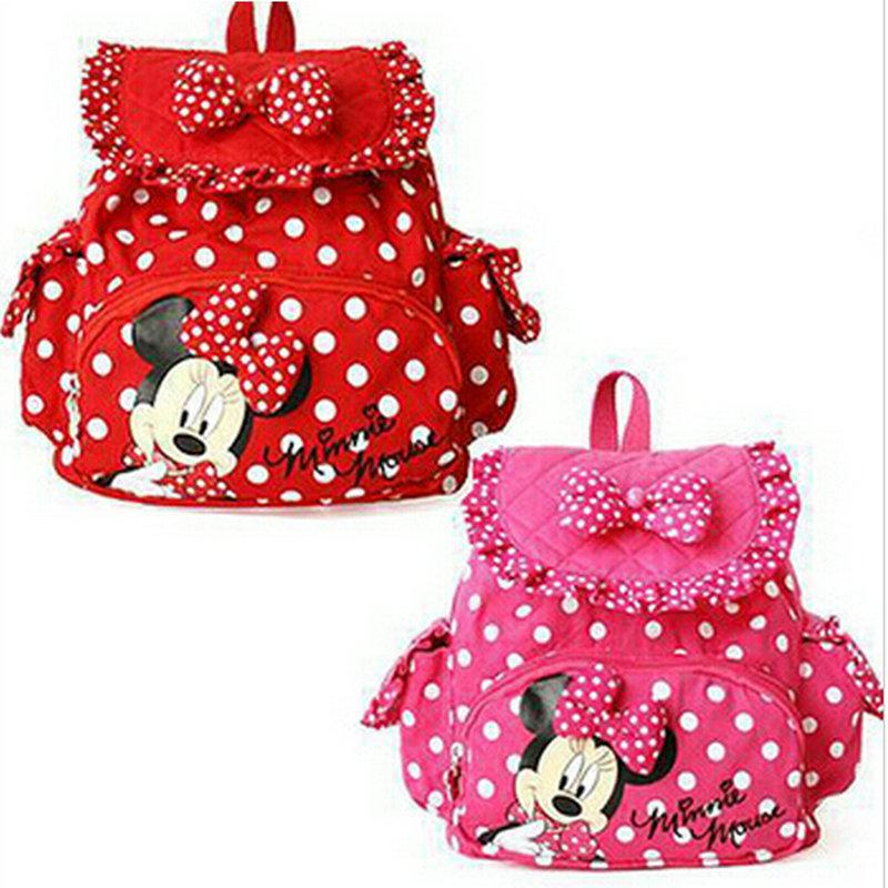 Small Minnie Mouse Children Bags Girls Backpacks Cute Cartoon ...