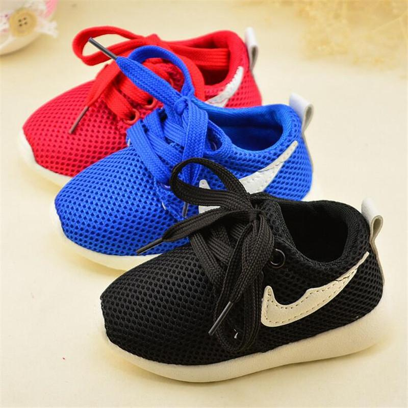 2016 Summer New Kids Shoes Sneakers Lace Breathable Mesh Non Slip ...
