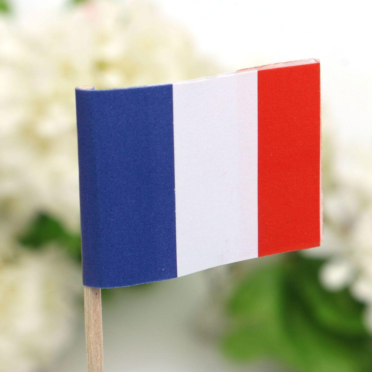 new paper mini france flag food picks party toothpicks cupcake