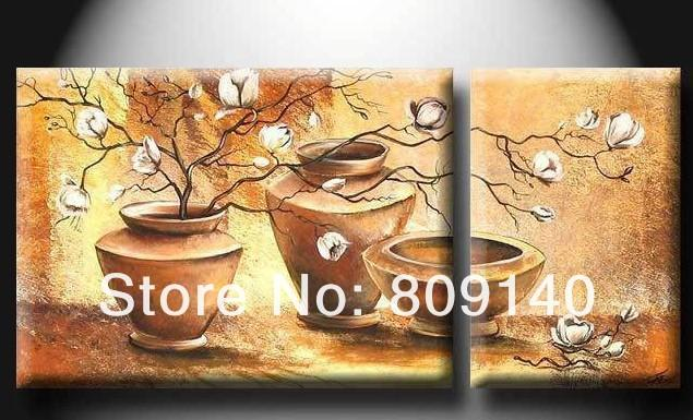 Kitchen Dining Room Oil Painting Canvas Still Life Bowl Flower