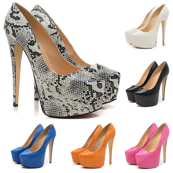 5.5 Inch Heels Classics Fashion Pointed Toe High Heels Platform