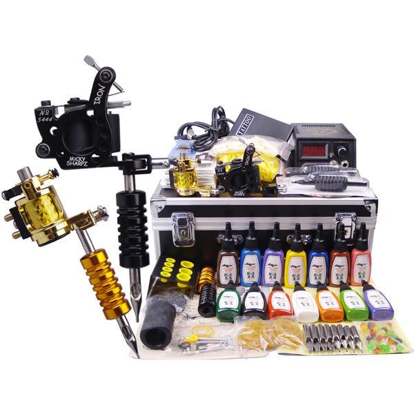 Best value tattoo kit 2 tattoo machine guns 14 for At home tattoo kit