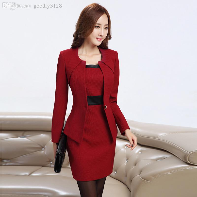 Discount Wholesale New Women Business Dress Suits Formal Office ...