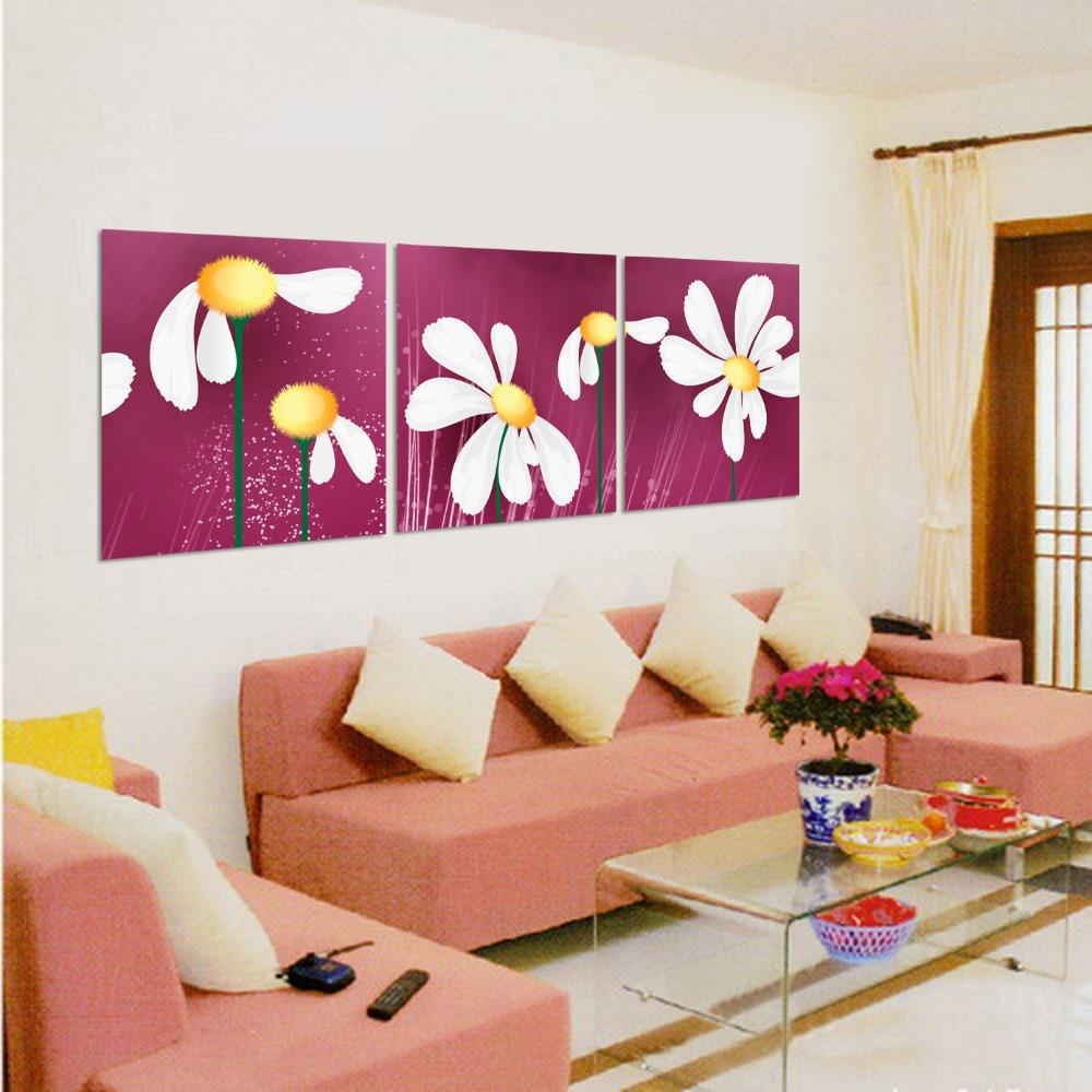 art sets paintings canvas flowers abstract paintings living room