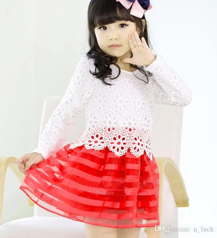 مدل لباس مجلسی پیلی دار رنگ قرمز