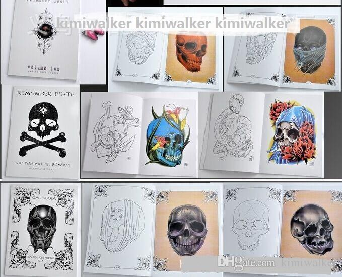 damien voss friesz remember death skull tattoo sketch flash a4 size skulls book calevara tattoo. Black Bedroom Furniture Sets. Home Design Ideas