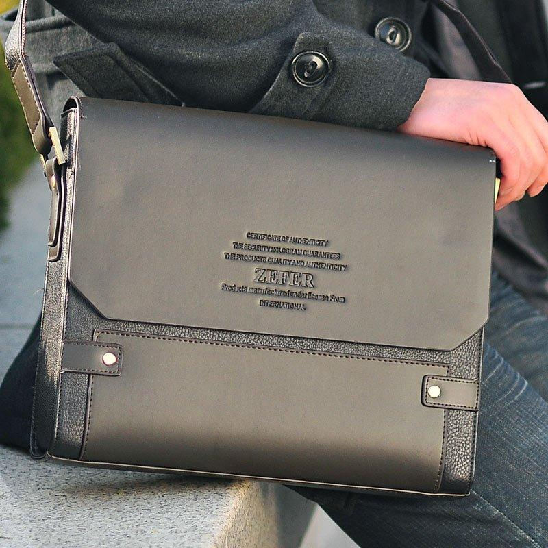 Special Offer!Hot Saling!Zefer horizontal commercial man shoulder briefcase handbag Free Shipping Two style