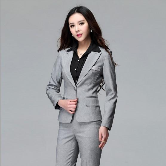 2017 2015 Professional Design Uniforms Formal Grey Pant Suits For ...