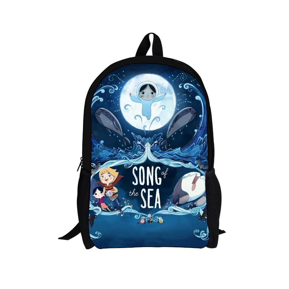 School bag new design - 2015 New Design Song Of The Sea Backpack Children Cartoon Printing Backpacks Child School Bags For
