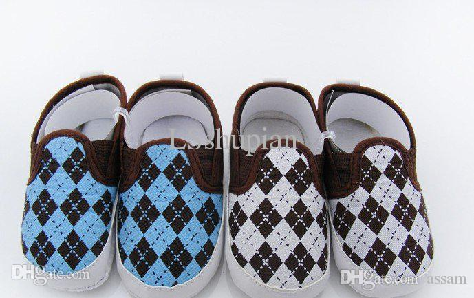 Best Cool Boy Baby Shoes Rhombus Pattern Infant Shoes For 0 12 ...