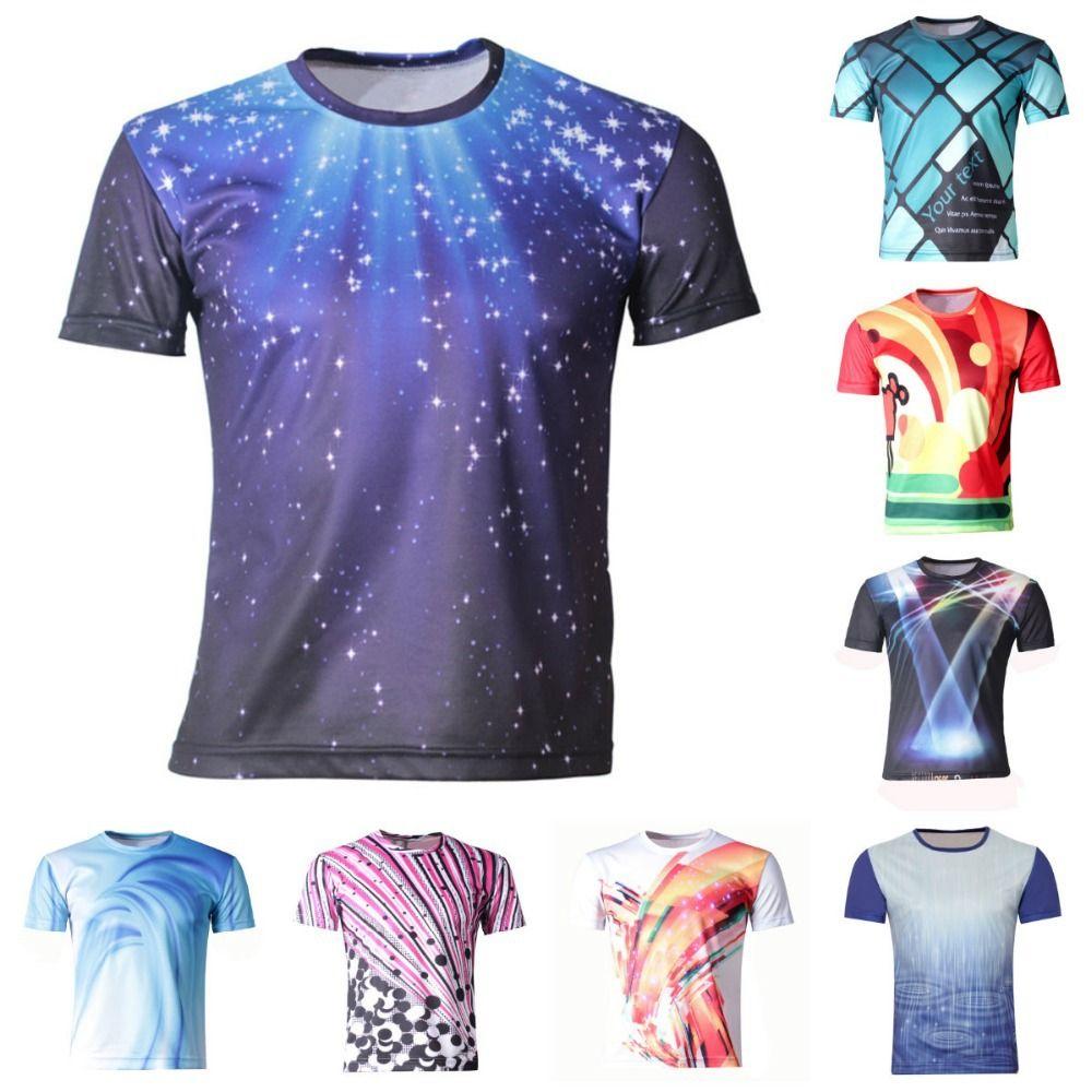 Shirt new design 2015 - Girl Boys Clothes New 2015 Summer Boy T Shirts Children 3d Printing T Shirt Galaxy