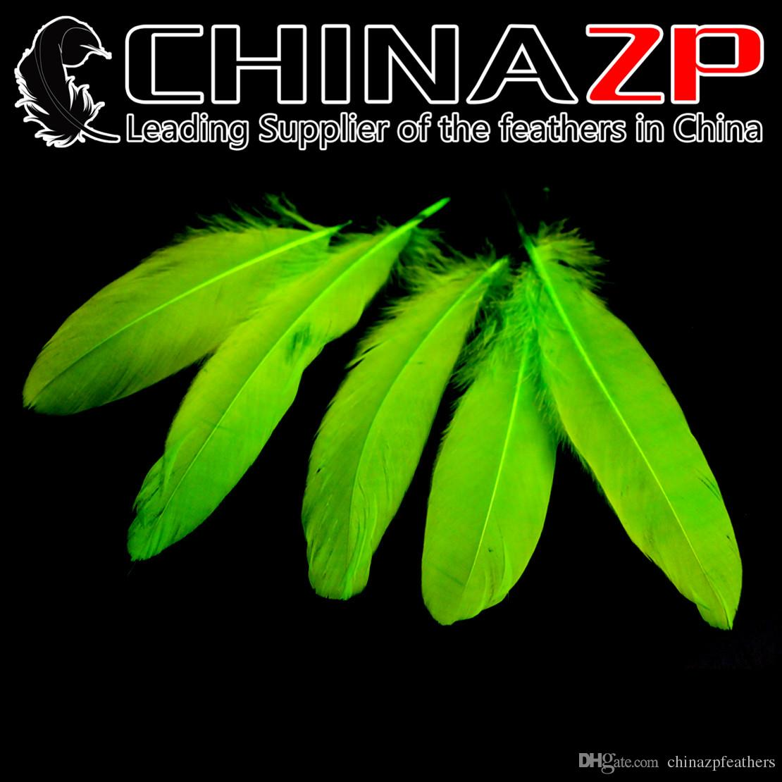 White craft feathers bulk - Leading Supplier Chinazp Crafts Factory 10 15cm4 6inch Length Selected Top Quality Lime Green Goose Loose Feathers Artificial Feathers White Feathers Bulk