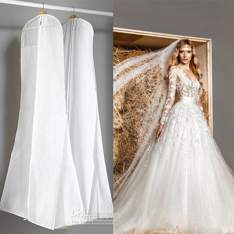 white wedding dress gown bag discount adults women white dust bag