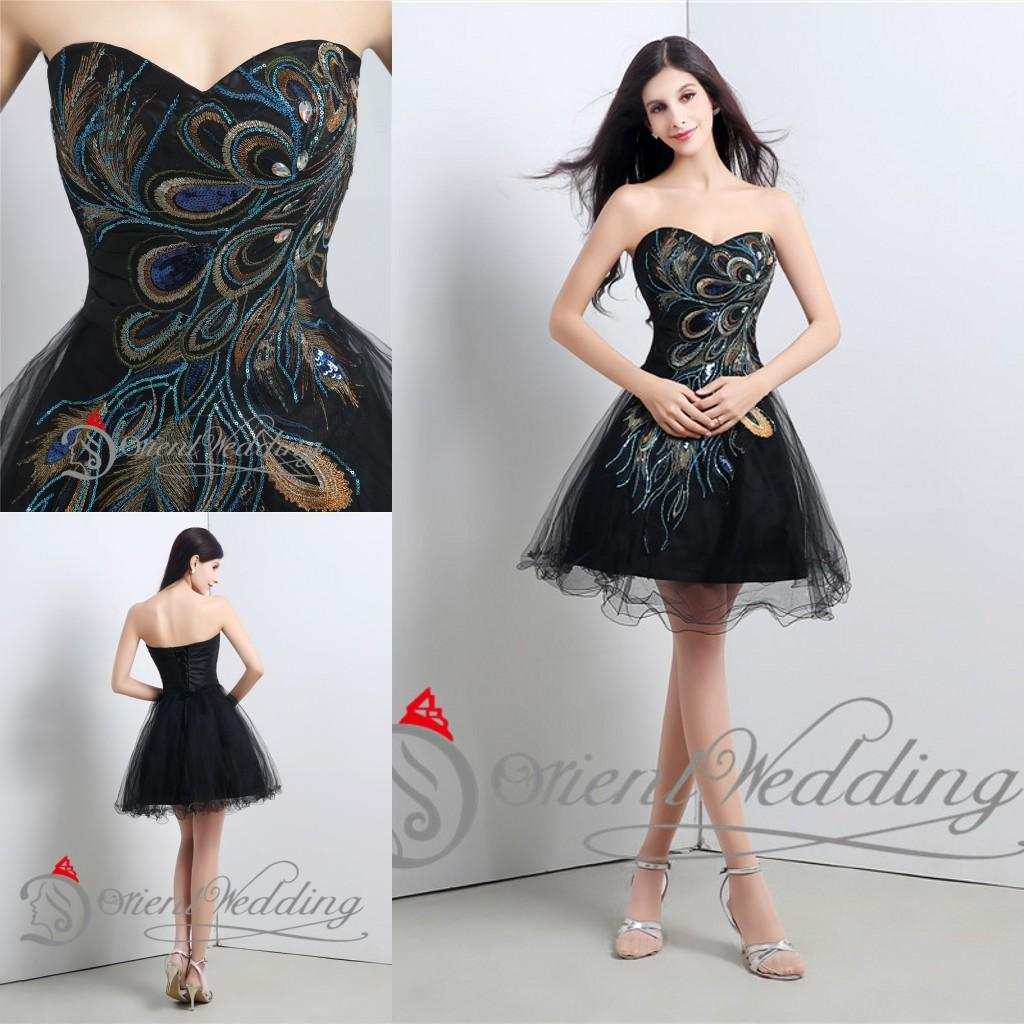 2015 New Arrival Party Cocktail Dresses Women Short Black Prom ...