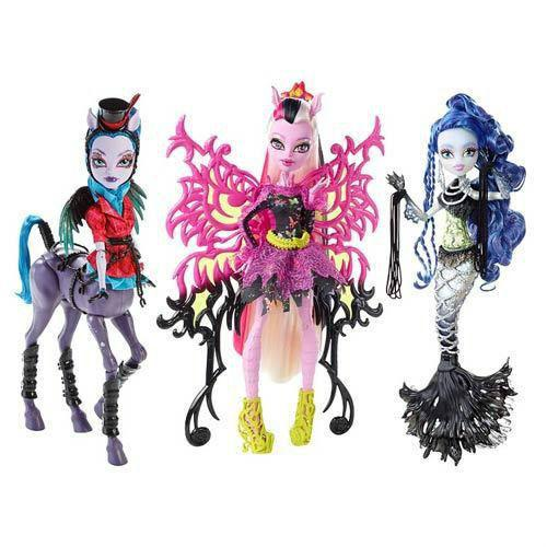 Original Monster High Freaky Fusion Bonita Femur Sirena Von Boo Avea Trotter Dolls For Girls