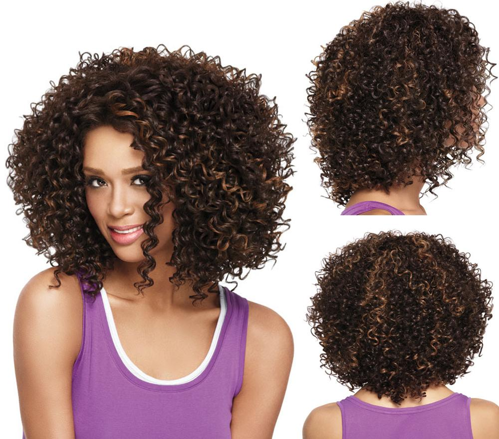 Afro American Hair Human Wig Woman 57