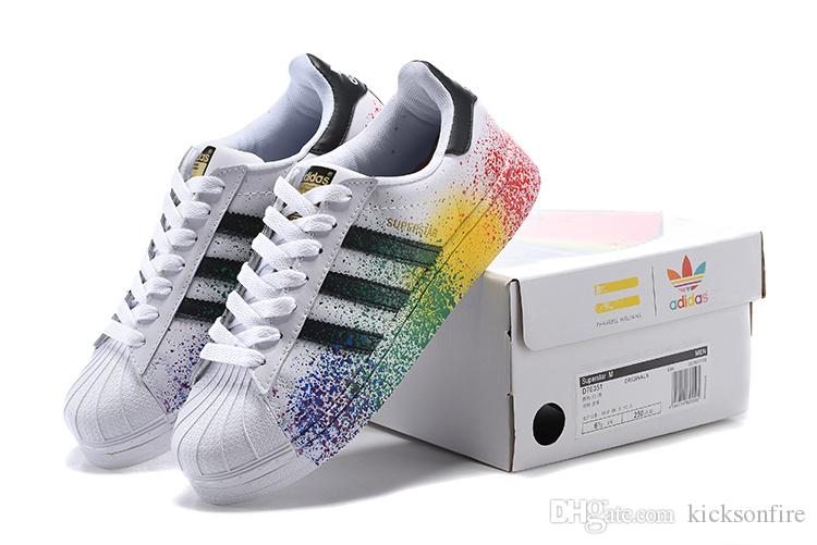 Adidas Superstar 80s 'Metallic' (Gold & Off White) END.