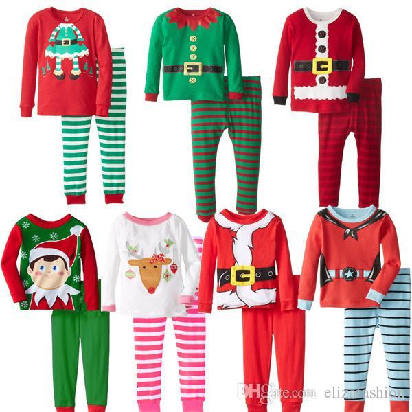 Kids Clothing Sets Cotton Girls Christmas Pajamas Boys Suits ...