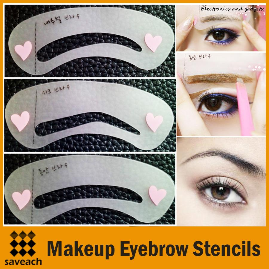 Eyebrow Templates | 3pcs set eyebrow stencils diy template makeup