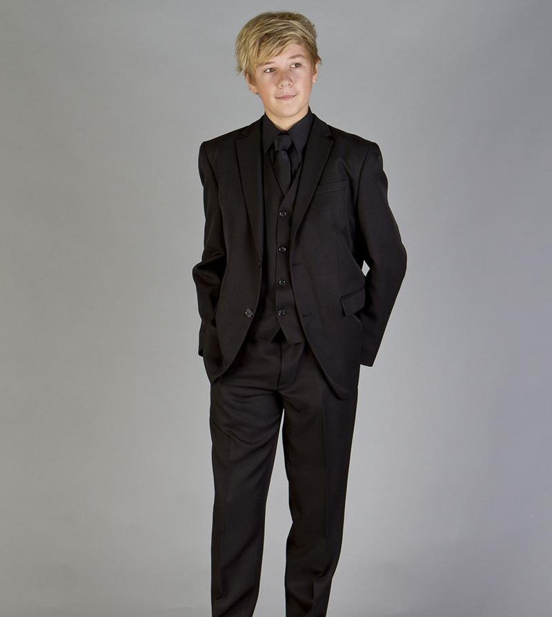 Custom Made Children Tuxedo Black Suit Party Dress Boys Attire