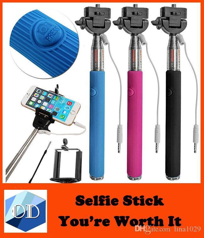 2017 z07 5s extendable self selfie monopod cable selfie stick camera tripod monopod for iphone 4. Black Bedroom Furniture Sets. Home Design Ideas