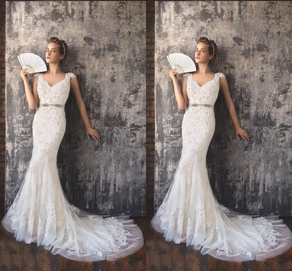 Amazing Sweetheart Mermaid Wedding Dresses 2016 Backless