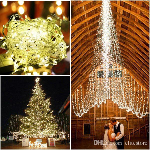 Cheap Chain Fairy String Lights 110v/220v Ip44 164ft 50m 500leds Outdoor Christmas Lights Led ...