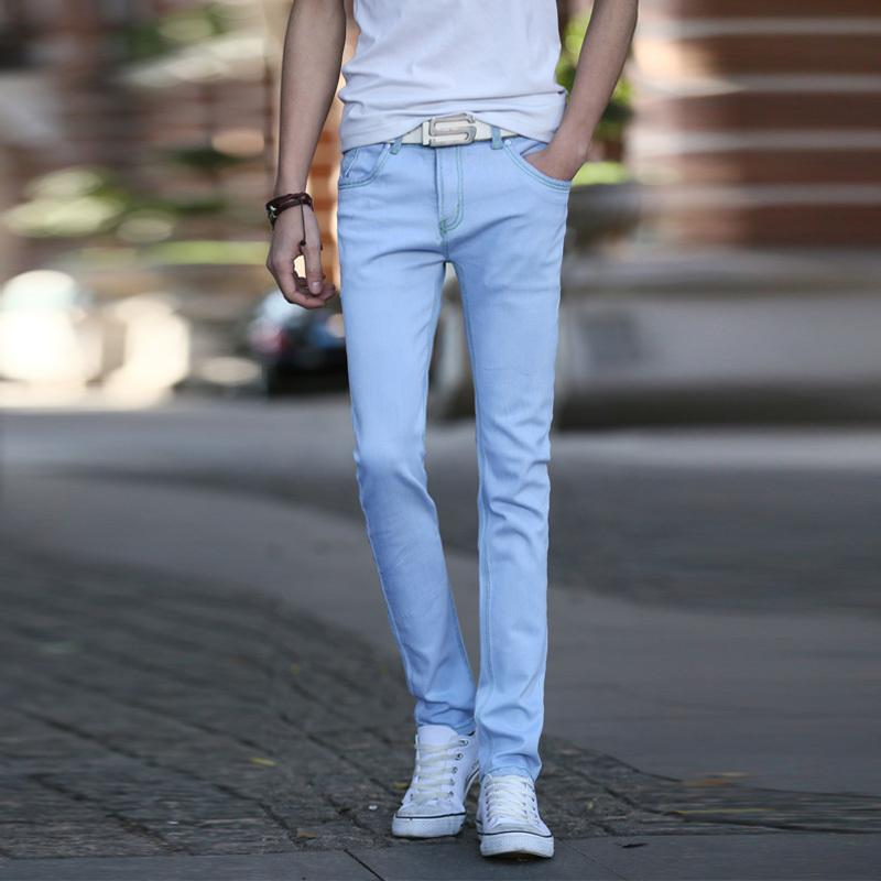2017 2015 New Arrival Light Blue Jeans Men Fashion Slim Fit Men ...