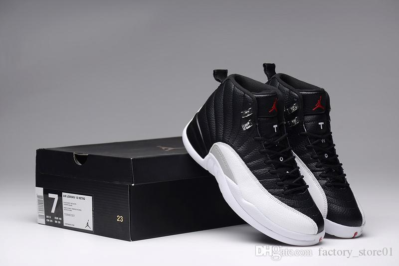 Mens Air Jordan 12 Full Air Black White shoes | PADDER HEALTH
