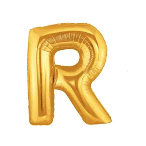 free shipping golden letter r foil balloons decoration balloons english letter r balloon for ads activity