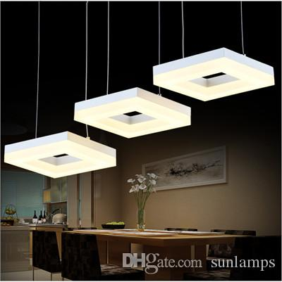 ikea 3 led square arcrylic pendant lamps office study room