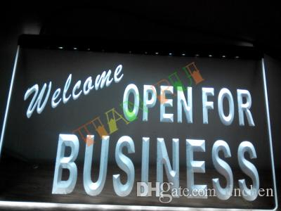 LB751-w OUVERT Bienvenue For Business Boutique Neon Light Sign accrocher signe d