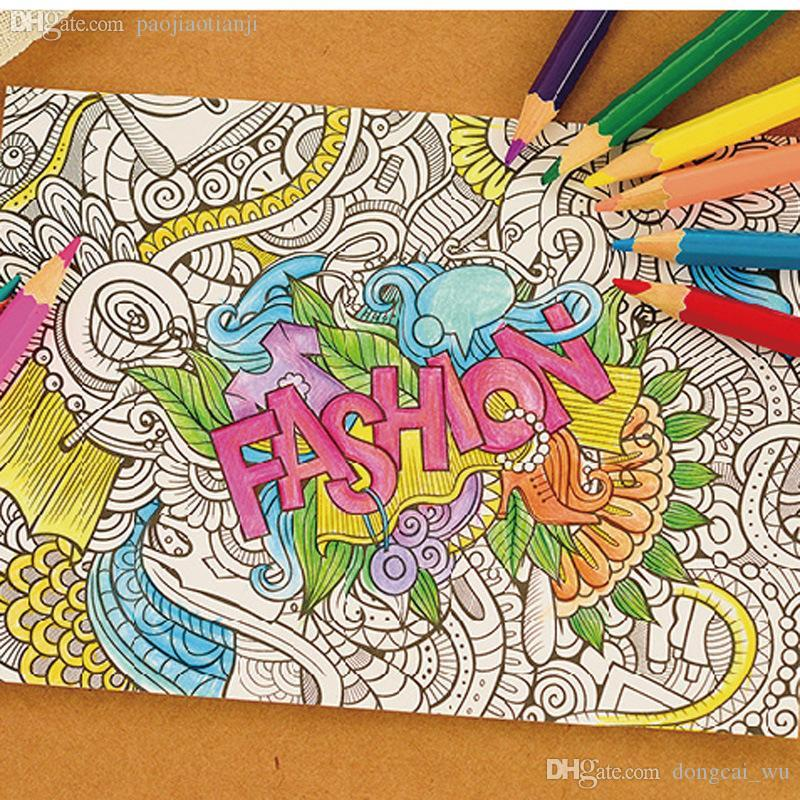 Online Cheap Wholesale 10 Sheets Coloring Postcard With