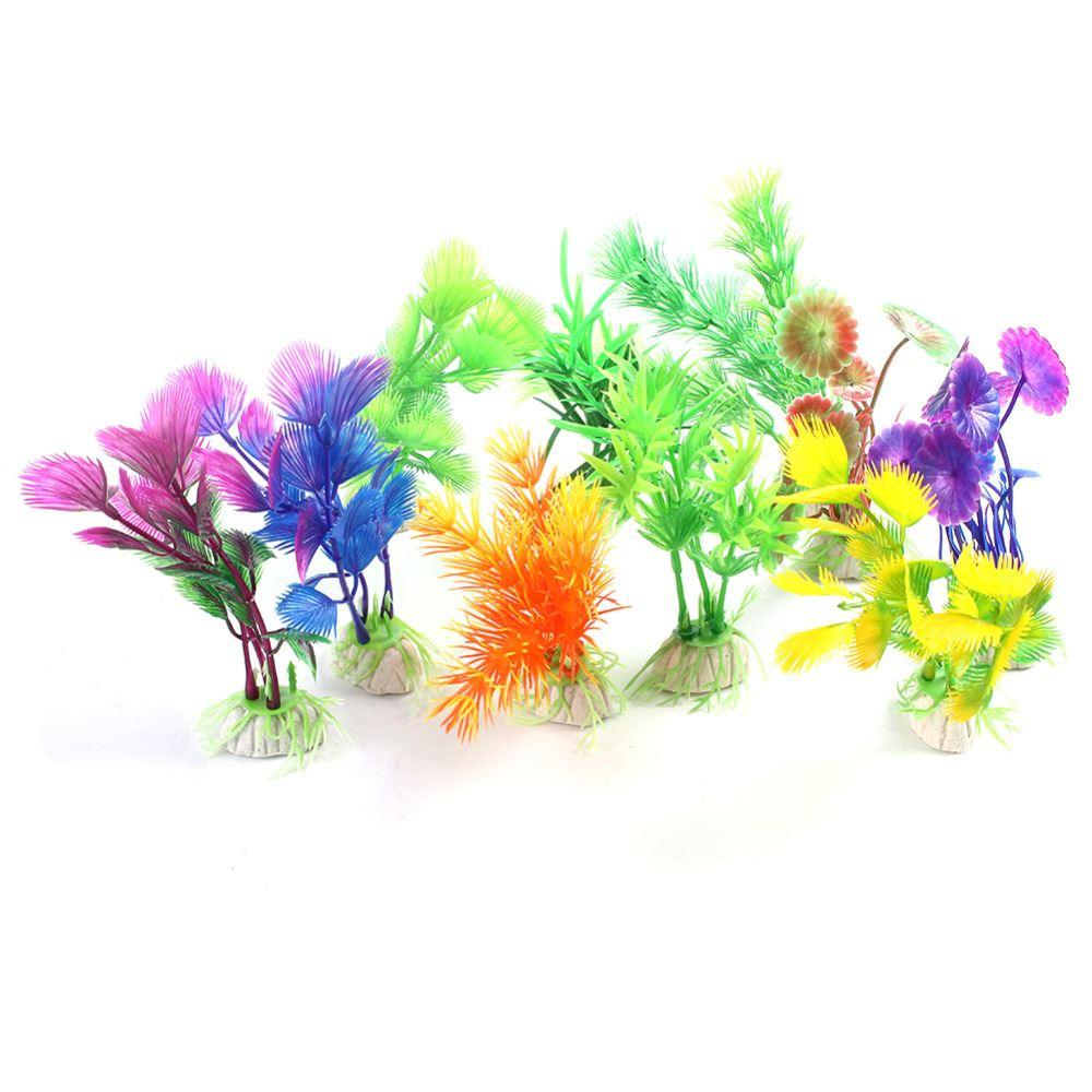 Aquarium fish tank plants - 10 Pcs Fish Tank Artificial Plants Craft Aquarium Decoration Vivid Plastic Plants Fish Tank Grass Flower