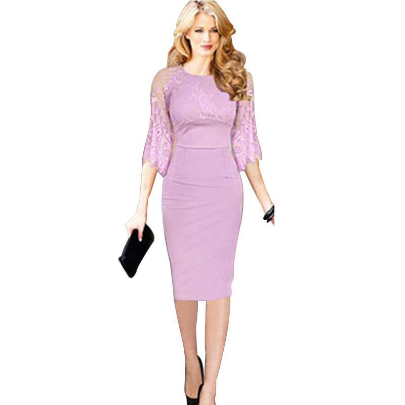 Plus size purple dress cheap