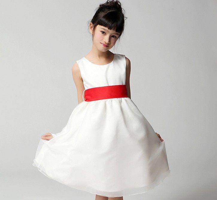 2017 Summer Tulle Wedding Dressy Children Clothing Short Ribbon ...