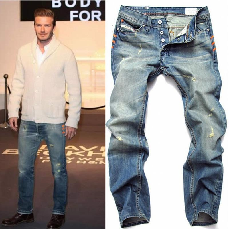 Famous Brand Men Hole Jeans 2016 Summer Style Mens Washed Button ...